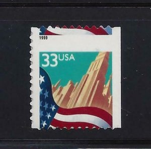 3278 Misperf Diecut Shift Error / EFO Flag & City Mint NH