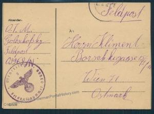 3rd Reich Org Todt (OT) Abschnitt Bauleitung 3/V Feldpost Cover 53565
