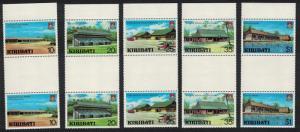 Kiribati Captain Cook Hotel Aircraft Archives Development 5v Gutter Pairs