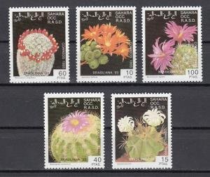 Sahara, 1993 Cinderella issue. Flowering Cactus issue.