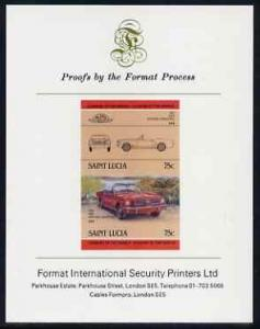 St Lucia 1984 Cars #2 (Leaders of the World) 75c Ford Mus...