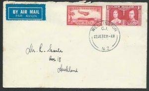 NEW ZEALAND 1937 first flight cover Wellington - Auckland..................56800