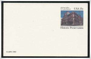 SC#UX97 13¢ Old Post Office: St. Louis  Postal Card Unused