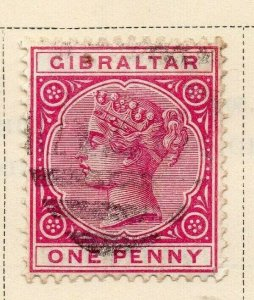 Gibraltar 1886 Early Issue Fine Used 1d. 326903