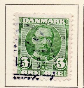 Denmark 1907-12 Early Issue Fine Used 5ore. 149704