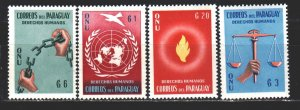 Paraguay. 1960. 850-53 from the series. Human rights pigeon. MNH.
