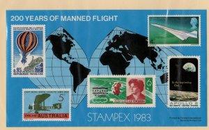Cinderella United Kingdom STAMPEX 1983 200 Years Manned Flight MNH  --SR