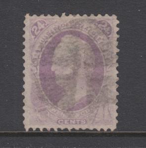 US Sc 153 used 1870 24c purple Gen. Scott, sound & attractive