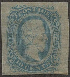 US #CONFEDERATE US #11 VF/XF mint, four nice margins,  usual dry gum, great c...