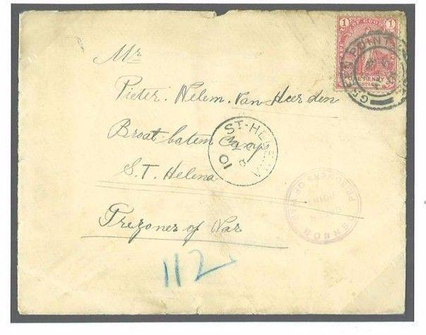 M190a 1901 SOUTH AFRICA COGH Capetown POW/St Helena Broad Bottom Camp