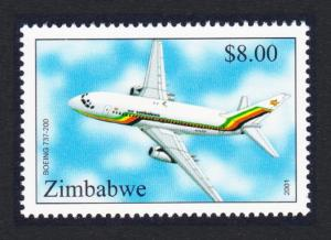 Zimbabwe Boeing 737-200 Aircraft $8 SG#1044 SC#876