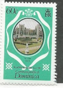 Dominica #702 Royal wedding   (MNH) CV$0.25