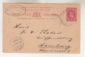GOLD COAST, POSTAL CARD, 1906 KEVII 1d., SEKONDI cds. to Germany.