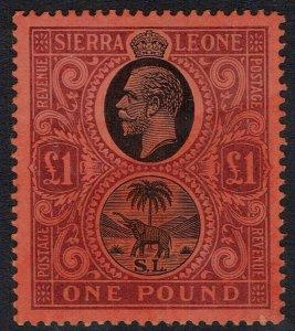 SIERRA LEONE 1912 KGV ELEPHANT 1 POUND