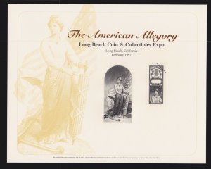 US 1997 The American Allegory Souvenir Card #B215