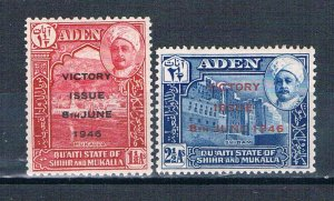 Aden 12-13 MLH set Victory Issue 1946 (A0516)+