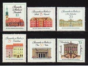 Germany DDR 1287-92 MNH 1971 Berlin Buildings Complete Set VF