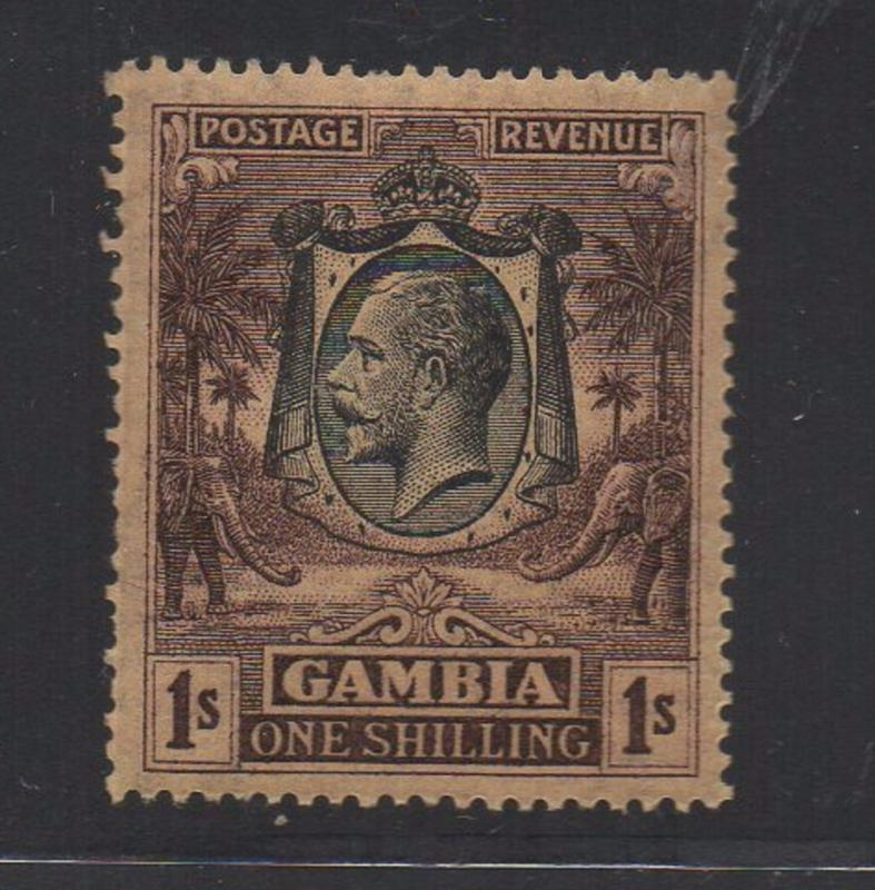 ALLY'S STAMPS Gambia Scott #123 King George V - MNH OG CV $32.50