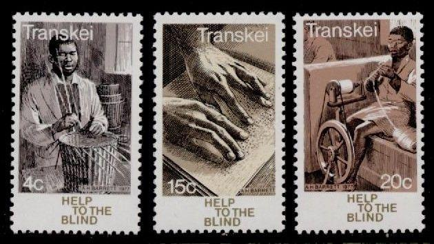 Transkei 38-40 MNH Help to the Blond, Braille