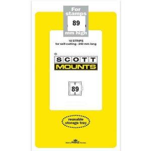 Scott Prinz 89 mm High 240mm Long Self Cutting Stamp Mounts  Clear 10 Strips