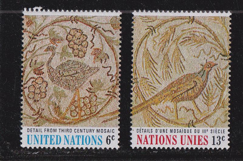 UNNY MNH 201-2n Art Birds At UN