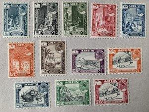 Aden Quaiti 1963 pictorials, MNH.  Scott 41-52, CV $44.80.  Michel 41-52