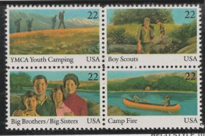 USA stamp, Scott#2160-2163, mint block of four, Youth year, #2160