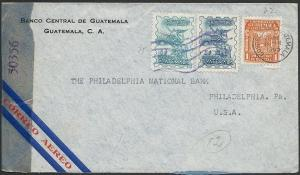 GUATEMALA 1945 censor cover airmail to USA.................................48936