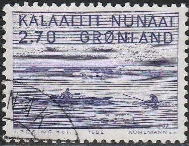Greenland, #113 Used From 1980-87