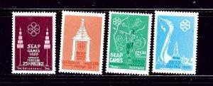 Thailand 333-36 MNH 1959 Southeast Asia Peninsula (SEAP) games