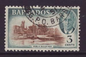 1950 Barbados 3c Public Buildings Fine Used