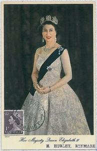 MAXIMUM CARD - POSTAL HISTORY -  AUSTRALIA : ROYALTY, The Queen, 1953
