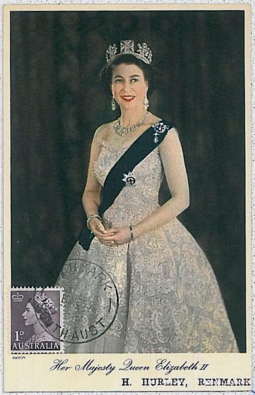 MAXIMUM CARD - POSTAL HISTORY -  AUSTRALIA : ROYALTY, The Queen, 1953