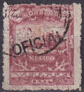 Mexico #O37 F-VF Used  CV $18.00 (A19370)