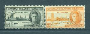 Cayman Islands sc# 112-113 used cat value $.80