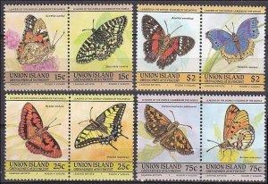 1985 St Vincent Grenadines-Union Island 94-101 Butterflies 5,00 €