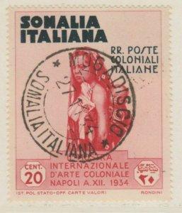 Somalia Arte Coloniale 1938 20c Usato Italia Colonie Italy Colony A18P14F201