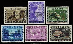Ecuador Scott 684-686, C389-C391 Mint never hinged.