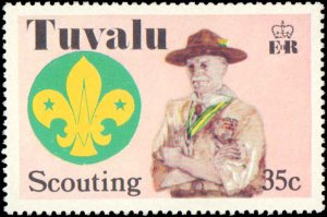 Tuvalu #50-53, Complete Set(4), 1977, Scouts, Never Hinged