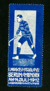 Germany Stamps Rare 1912 hockey label