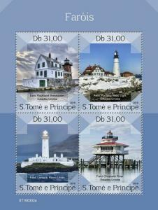 Z08 ST190302a Sao Tome and Principe 2019 Lighthouses MNH ** Postfrisch