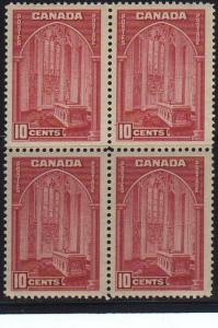 Canada #241a Block 4  Mint  VF NH
