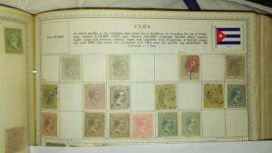 Cuba 1880's 16 stamps