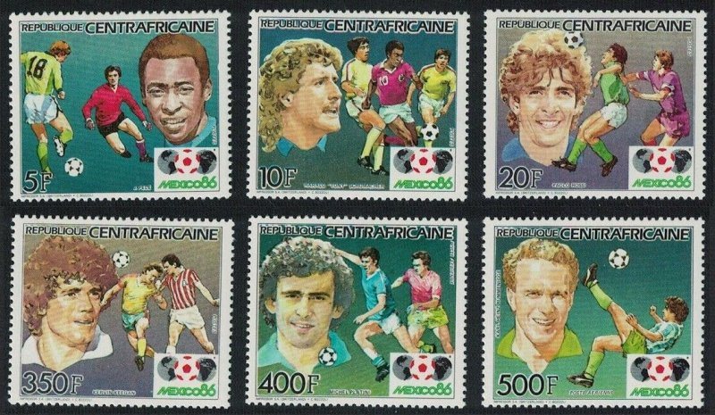 1985 Central African Republic 1132-1137 1986 FIFA World Cup in Mexico 13,00 €