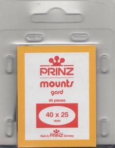 PRINZ BLACK MOUNTS 40X25 (40) RETAIL PRICE $3.99