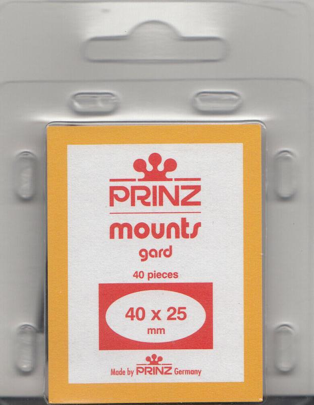 PRINZ BLACK MOUNTS 40X25 (40) RETAIL PRICE $3.99