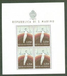 BD: XL item San Marino 355 mint sheet of 4 CV $250