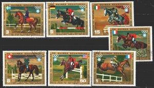 Equatorial Guinea. 1972. 126-32. Munich, summer olympics, horses. USED.