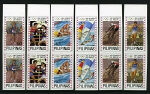 Philippines #1699-1704 IMPERF PAIRS - Mint NEVER HINGED - ecv$7,0000.00