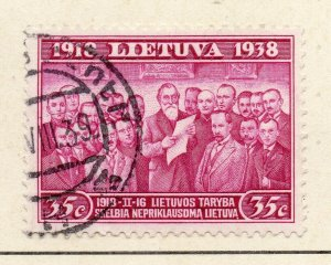 Latvia 1934 Early Issue Fine Used 35c. Postmark NW-07139